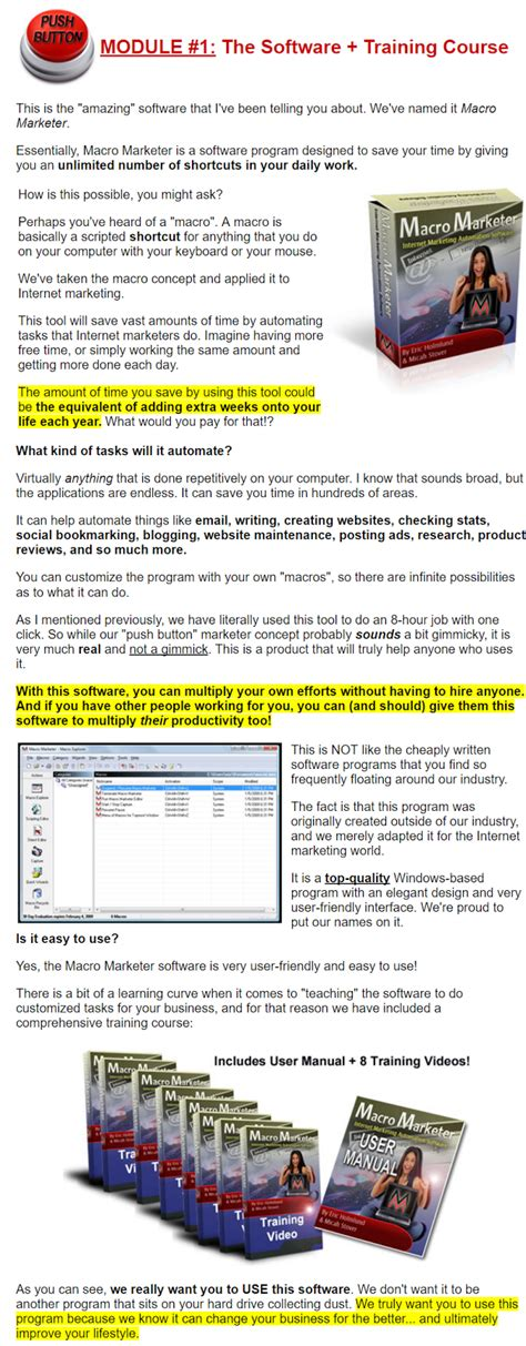 [click]push Button Marketer Automation Software For Internet .
