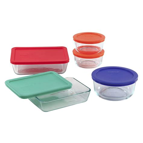 Pyrex Simply Store 10-Piece Glass Food Storage Set With .