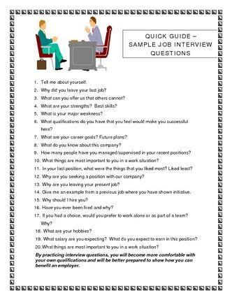 [pdf] Quick Guide   Sample Job Interview Questions.