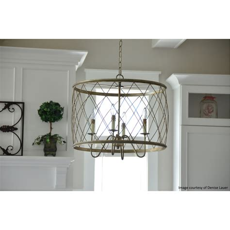 Quoizel Dury Pendant With 4 Lights In Century Silver Leaf .
