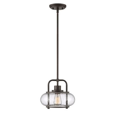 Quoizel Trilogy 1 Light Mini Pendant In Old Bronze From .