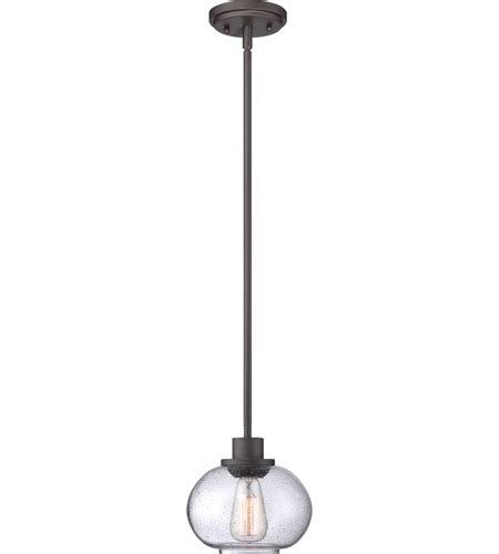Quoizel Trilogy Old Bronze One Light Mini Pendant .