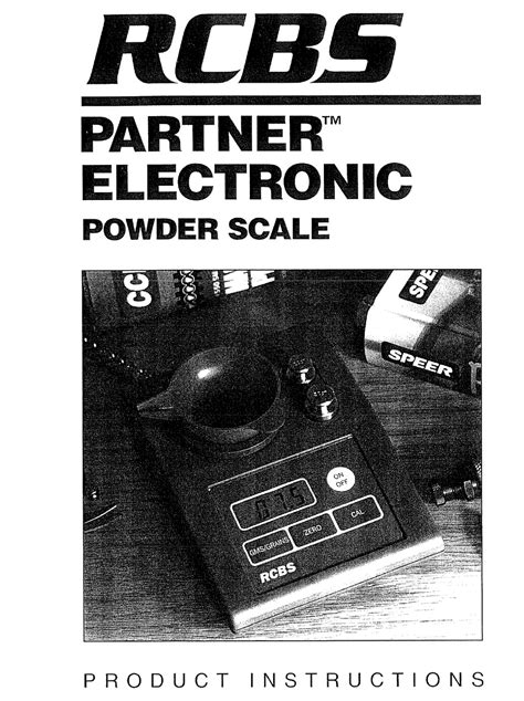Rcbs Powder Pro Product Instructions - Manualslib.