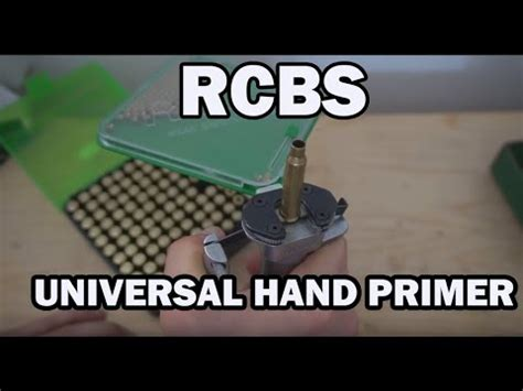 Rcbs Universal Hand Priming Tool Unboxing Set Up  Review Hd.