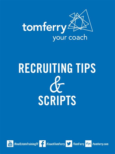 [pdf] Recruiting Tips Scripts - Tom Ferry.