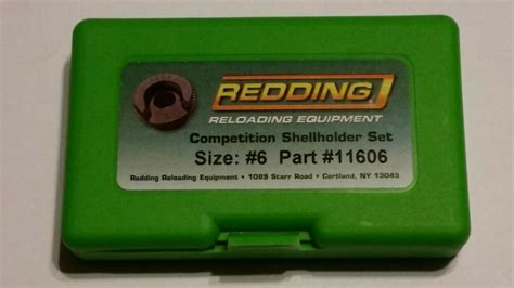 Redding 6 Competition Shellholder Set 11606 .