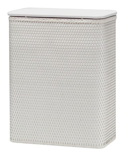 Redmon Chelsea Collection Hamper With Vinyl Lid White .