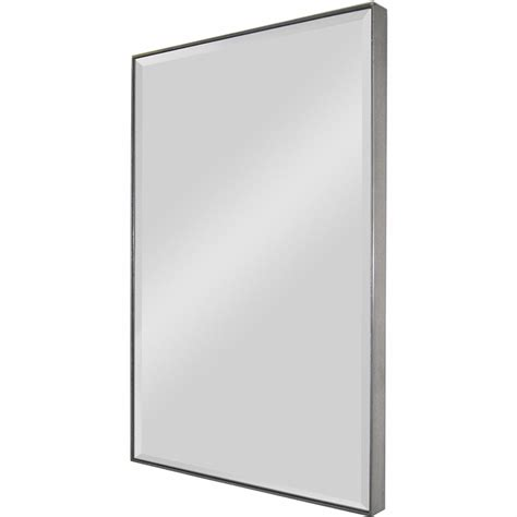 Renwil Mt785 Onice Rectangular Mirror In Silver Leaf.