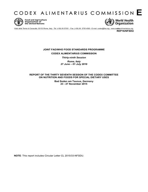 [pdf] Rep18 Nfsdu Joint Fao Who Food Standards Programme Codex .