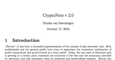 [pdf] Review Of Cryptonote White Paper - Monero.