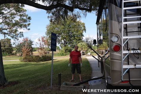 Rv Dumping Isnt So Bad - How To Dump Rv Tanks - Were The Russos.