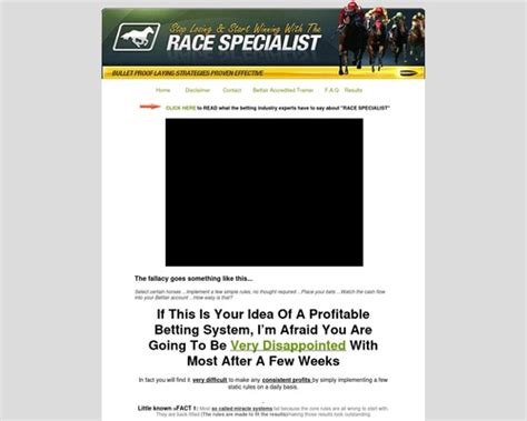 @ Race Specialist Definitive Horse Racing Method For Low .