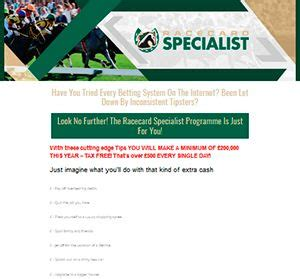 [click]racecard Specialist - Bettingsystems24 Com.
