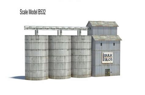 [click]railroad Model Buildings - Industrial Silos - Models To Make.