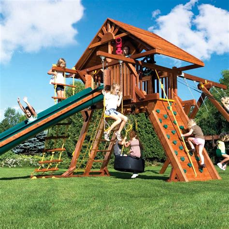 Rainbow Play Systems Wooden Swing Sets
