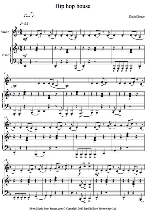 Rap Hip Hop Violin Sheet Music