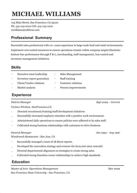 Free Pdf Resume Template Project Manager Resume Template Word - Real free resume builder