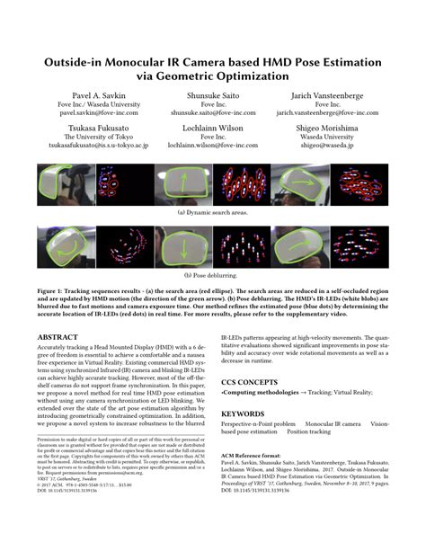 [pdf] Real-Time Camera Pose Estimation For Virtual Reality .