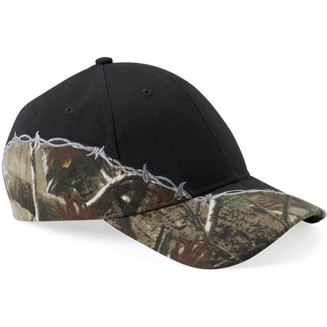 Realtree Ap Xtra  Black Cap With Barbed Wire Embroidery.