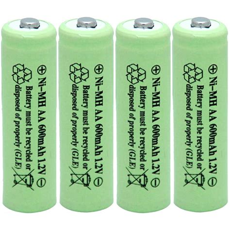 Rechargeable Aa Batteries 4-Pack - Solar Usb Powered .