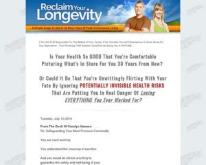 [click]reclaim Your Longevity 8 Simple Steps To Dial In 20 More .