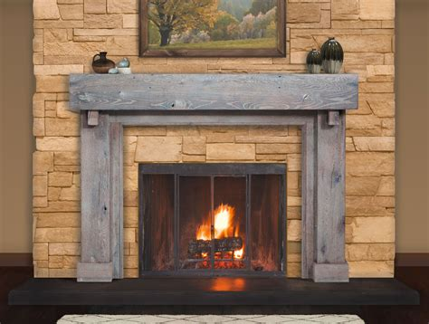 Reclaimed Wood Fireplace Mantels  Rustic Fireplace Mantels.