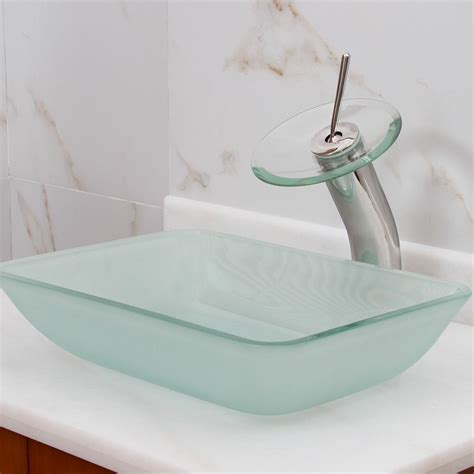 Rectangle - Glass - Vessel Sinks - Bathroom Sinks - The .