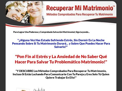 Recuperar Mi Matrimonio. Sin Opt-In.