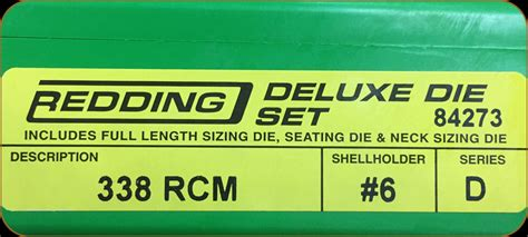 Redding - Deluxe Die Set - 338 Rcm - 84273 - Prophet River .