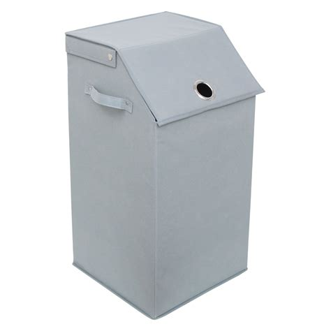 Redmon Redmon Flip Top Laundry Hamper - Gray  - Bhg Com.