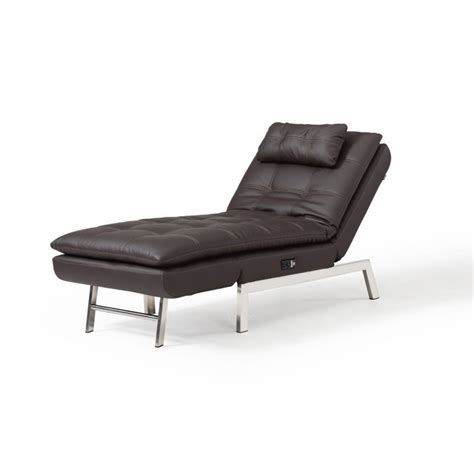 Relax-A-Lounger Titan Faux Leather Convertible Chaise .
