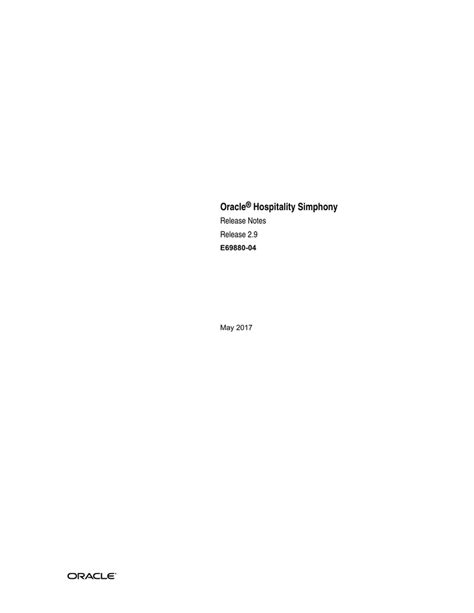 [pdf] Release Notes Oracle Hospitality Simphony.
