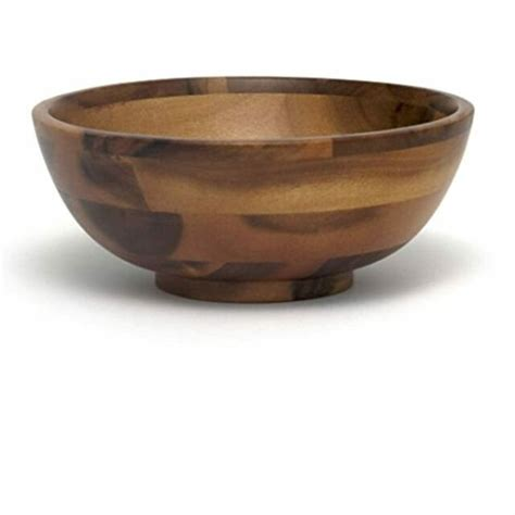 Remarkable Deal On Large Acacia Footed Flared Bowl.
