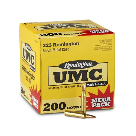 Remington Umc 223 Remington Ammo 55 Grain Fmj.