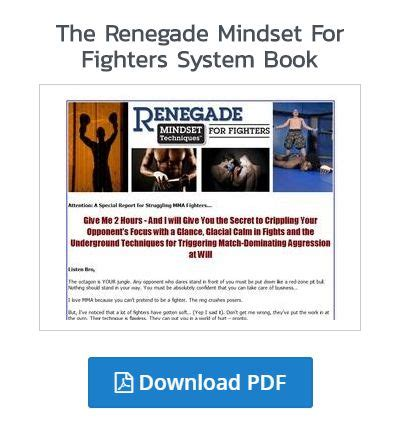 @ Renegade Mindset Techniques For Fighters Review - Legit Or .