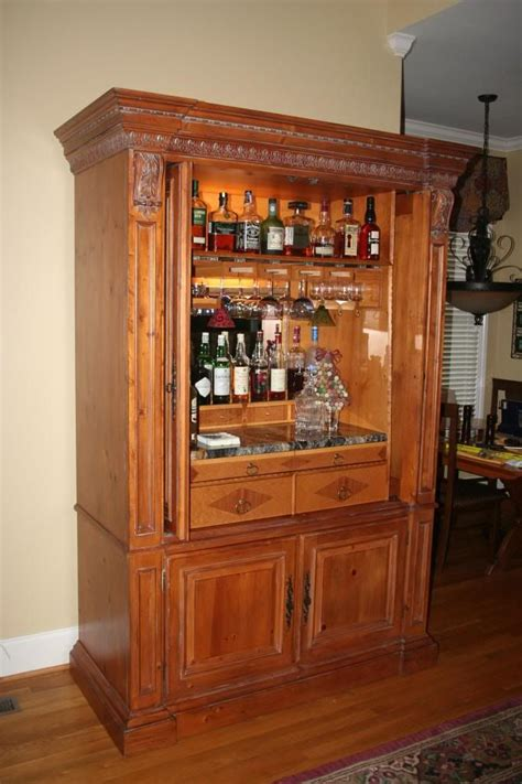 Repurposed Entertainment Center Bar