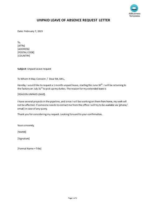 Letter to employer about pregnancy sample of letter of transmittal request for unpaid leave letter spiritdancerdesigns Choice Image