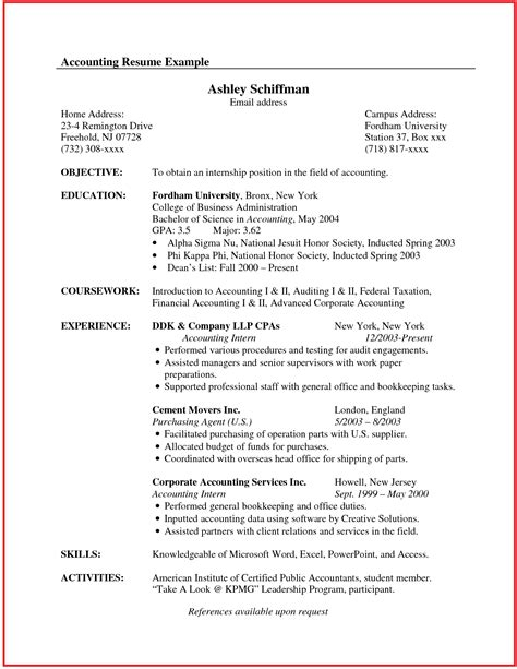 Resume examples canada 2013