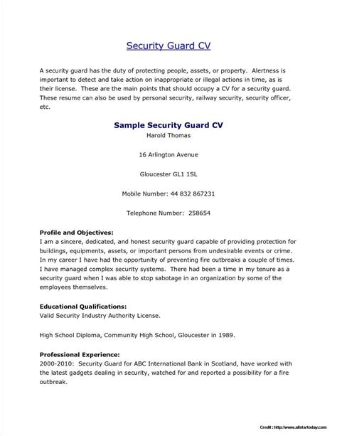 resume template word usa resume examples for security guard no experience. Resume Example. Resume CV Cover Letter