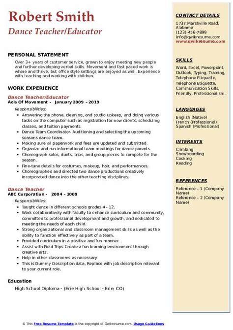 cv for document controller   resume guidelinesresume format for dance teacher pdf