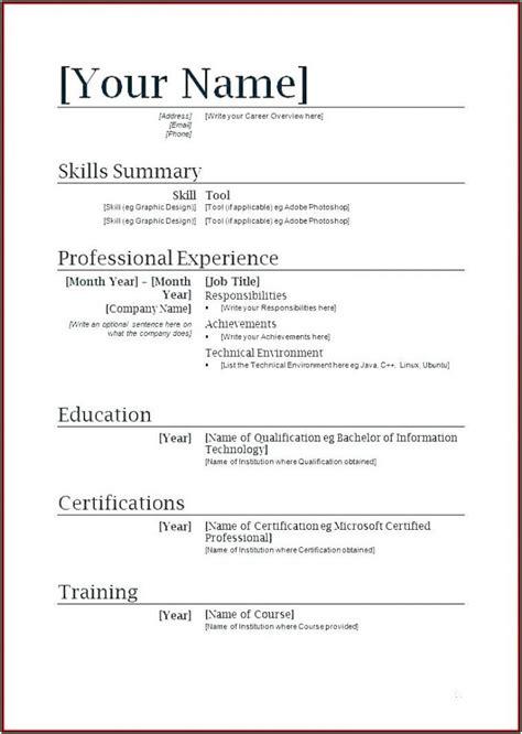 resume template microsoft word  cv resume template microsoft    resume maker completely free