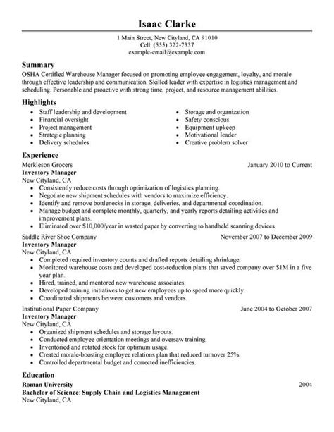 resume words for inventory control