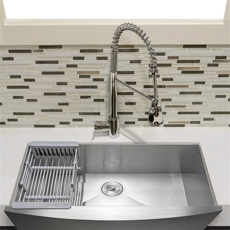 Review Akdy 33 Quot Stainless Steel Kitchen Sink Under .
