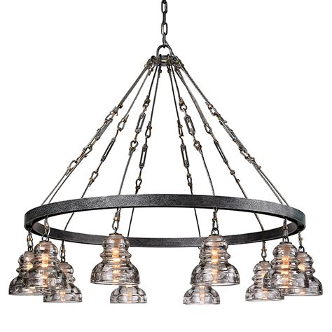 Review Troy F3137 Large Pendant 10 Light Old Silver Finish .