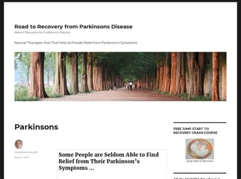 @ Road To Recovery From Parkinsons Disease   Natural .