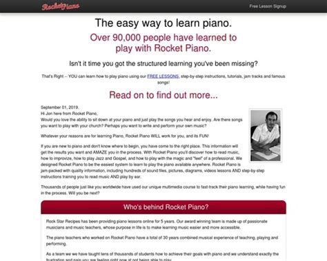 [click]rocket Piano----Learn Piano Today.