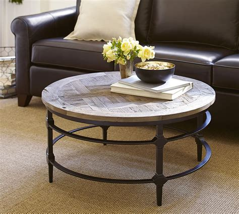 Round Barnwood Coffee Table