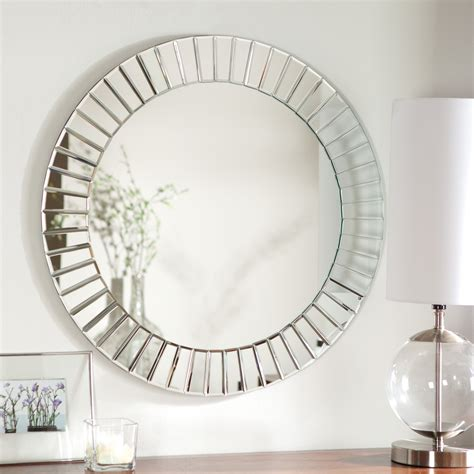 Round Beveled Wall Mirror For Home Decor - Huntington .