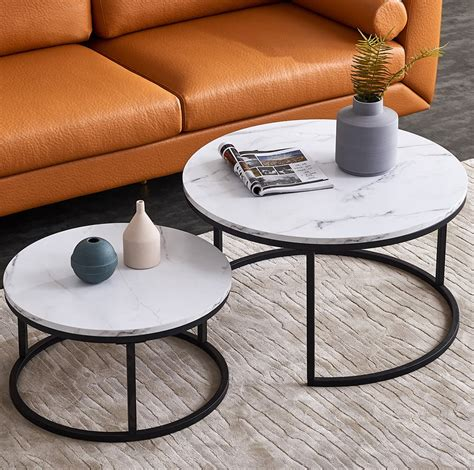 Round Coffee Table White
