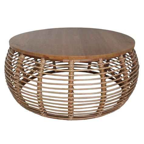 Round Wicker Coffee Tables